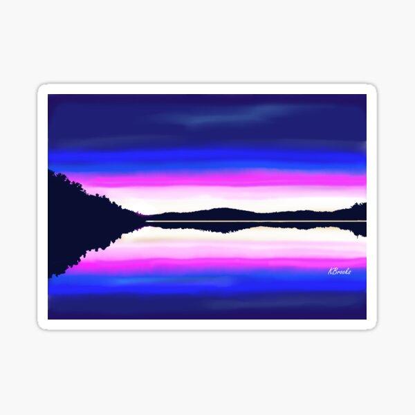Lac Galarneau Sunset Sticker