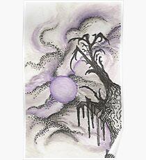 Tree in Moonlight Poster