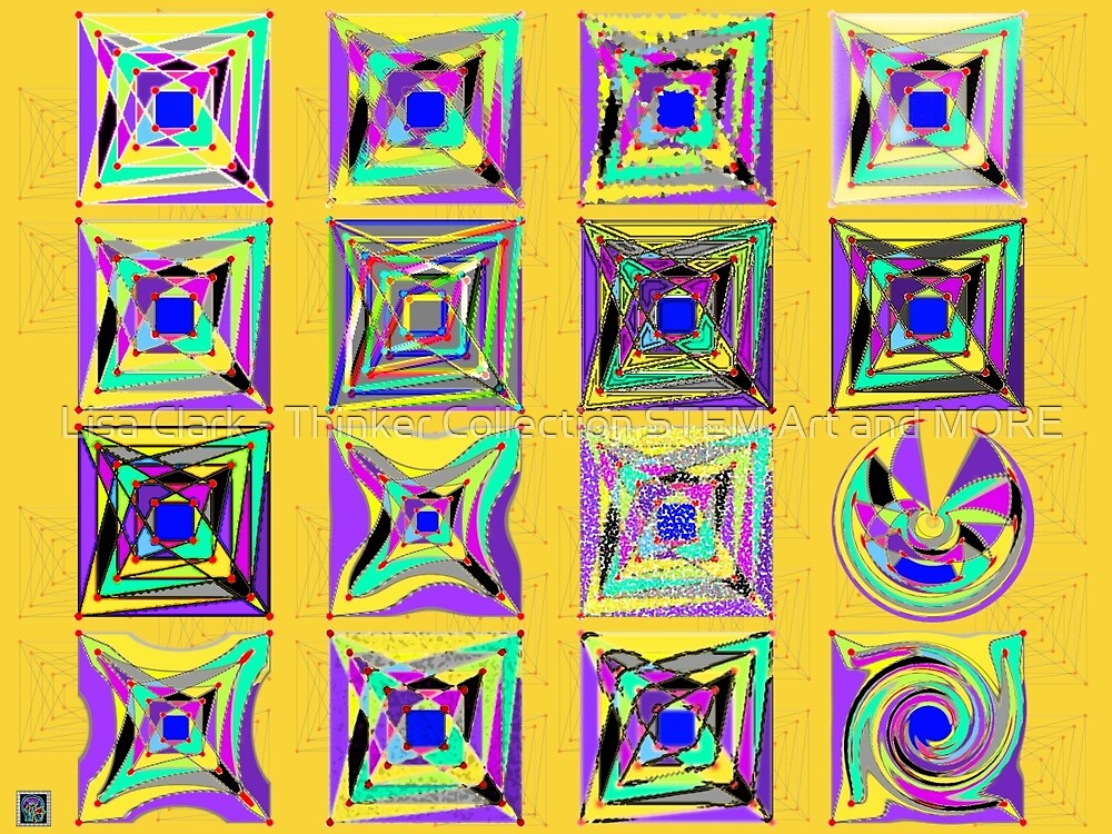 """""""Folkman Variations""""© by Lisa Clark - Thinker Collection STEM Art and MORE"""