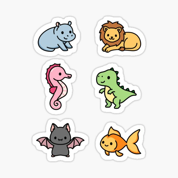 Cute Animal Sticker Pack 8 Sticker