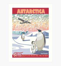 Antarctica - Ford Trimotor and Penguins Art Print