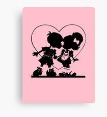 Valentine Kiss Canvas Print