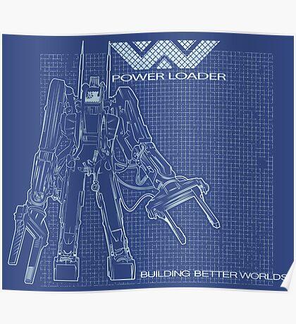 Powerloader Blueprint Poster