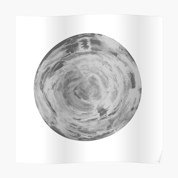 black and white sphere Poster