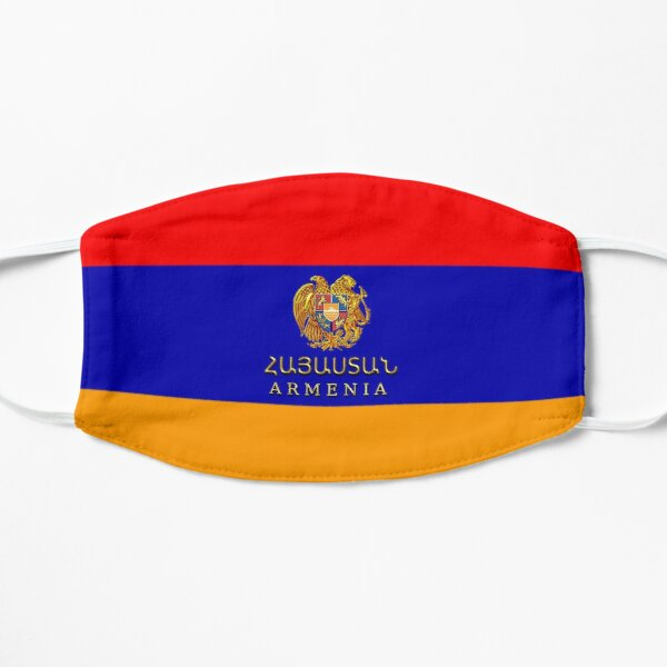 Flag of Armenia Հայաստանի դրոշը Flat Mask