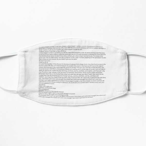 Show Stoppin' Number Lyrics Mask