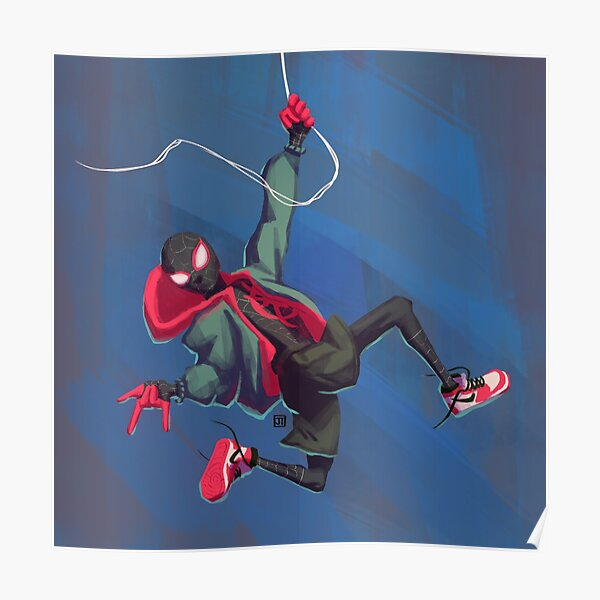 Miles Morales Poster Spiderman Marvel Wall Art dans le spiderverse Imprimer venger
