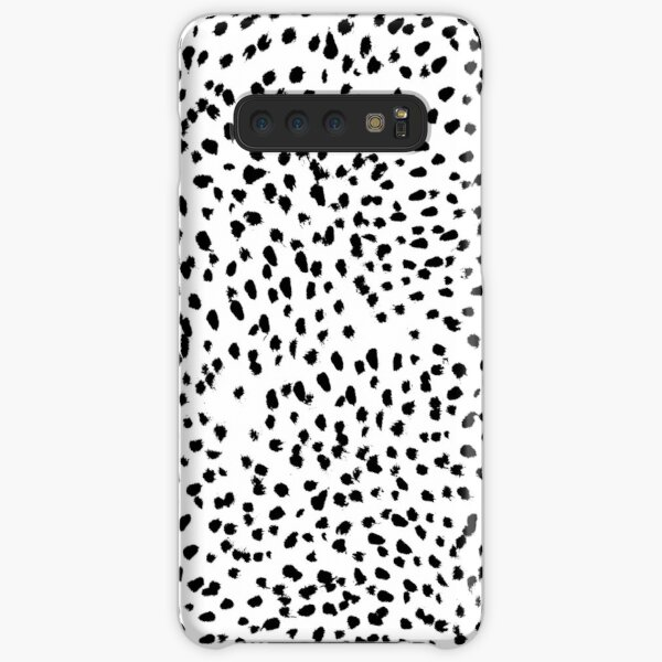 Nadia - Black and White, Animal Print, Dalmatian Spot, Spots, Dots, BW Samsung Galaxy Snap Case