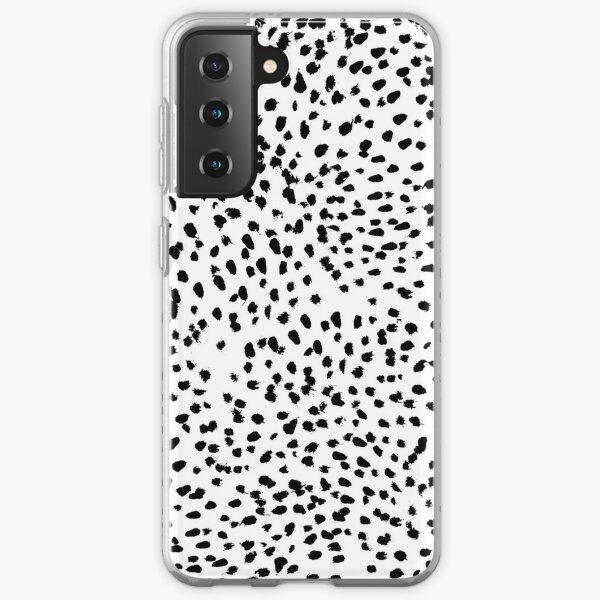 Nadia - Black and White, Animal Print, Dalmatian Spot, Spots, Dots, BW Samsung Galaxy Soft Case