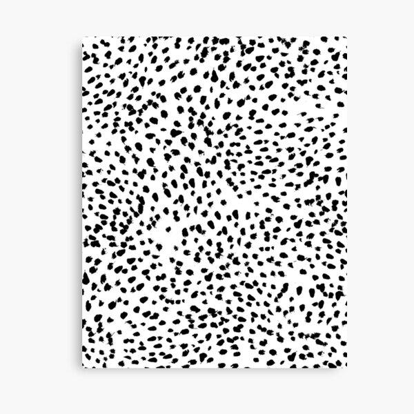 Nadia - Black and White, Animal Print, Dalmatian Spot, Spots, Dots, BW Canvas Print