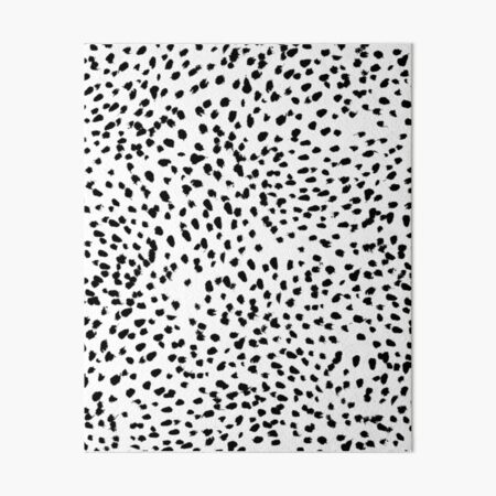 Nadia - Black and White, Animal Print, Dalmatian Spot, Spots, Dots, BW Art Board Print