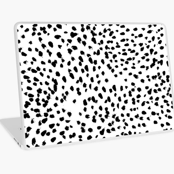 Nadia - Black and White, Animal Print, Dalmatian Spot, Spots, Dots, BW Laptop Skin