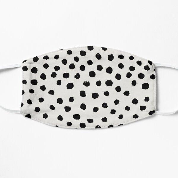 Preppy brushstroke free polka dots black and white spots dots dalmation animal spots design minimal Flat Mask