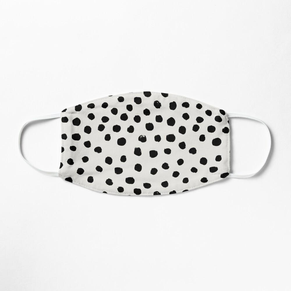 Preppy brushstroke free polka dots black and white spots dots dalmation animal spots design minimal Mask