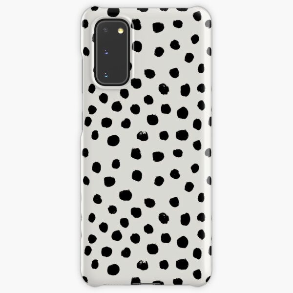 Preppy brushstroke free polka dots black and white spots dots dalmation animal spots design minimal Samsung Galaxy Snap Case