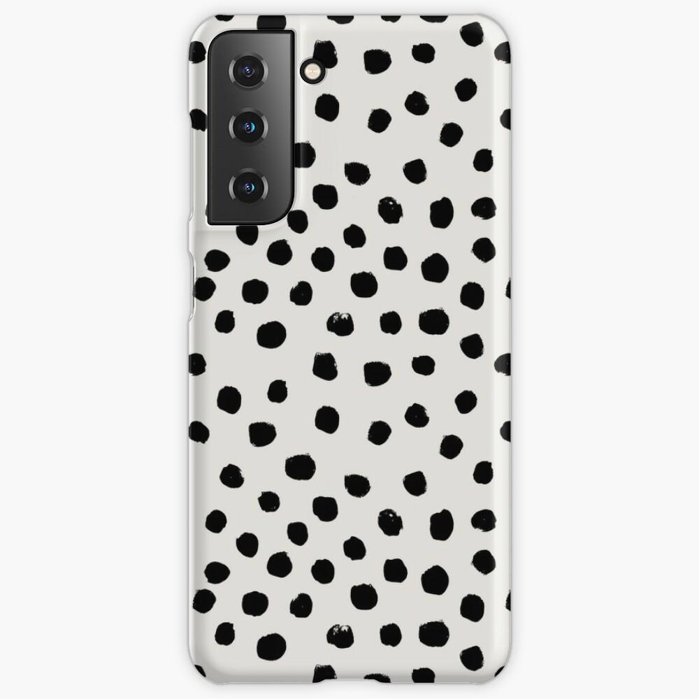 Preppy brushstroke free polka dots black and white spots dots dalmation  animal spots design minimal   Case & Skin for Samsung Galaxy