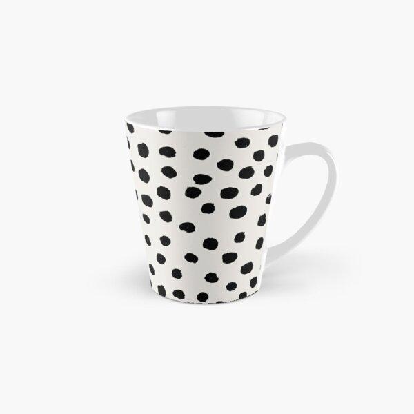 Pois preppy sans pois à pois noirs et blancs pois dalmation taches d'animaux design minimal Mug long