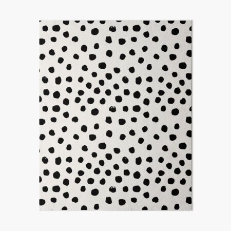 Preppy brushstroke free polka dots black and white spots dots dalmation animal spots design minimal Art Board Print