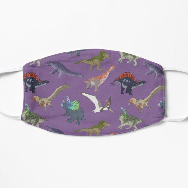 Mesozoic Reptiles Pattern - Purple Flat Mask