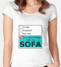 In A Relationship With My Sofa Women's Fitted Scoop T-Shirt