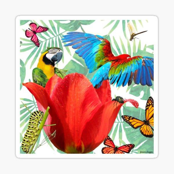 Parrot Surprise Sticker