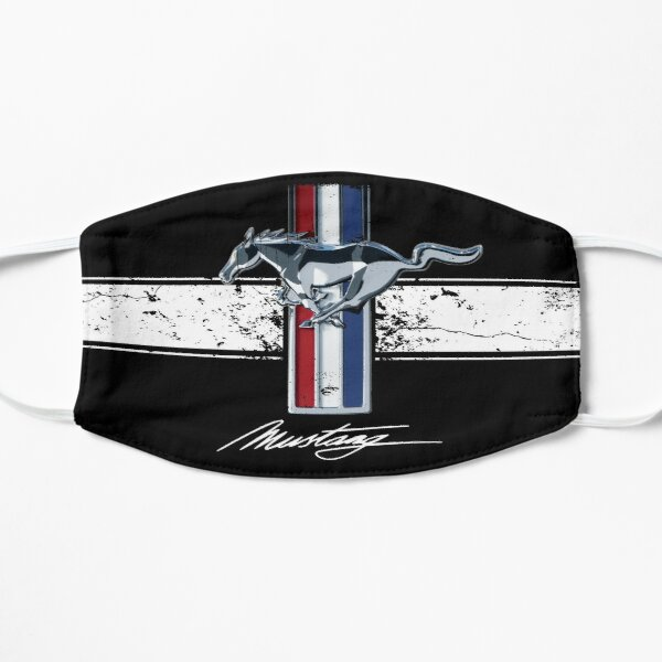 Ford Mustang Retro Logo - Stripes - distressed Mask