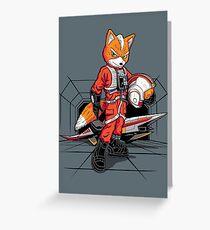 Rebel Fox Greeting Card
