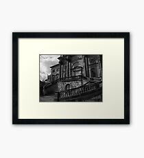 Upstairs, Downstairs. Framed Print