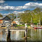 H.A. Burnham Boat Yard by Monica M. Scanlan