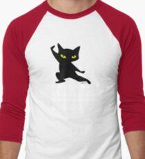 Ninja Kitty Retro Poster Men's Baseball ¾ T-Shirt