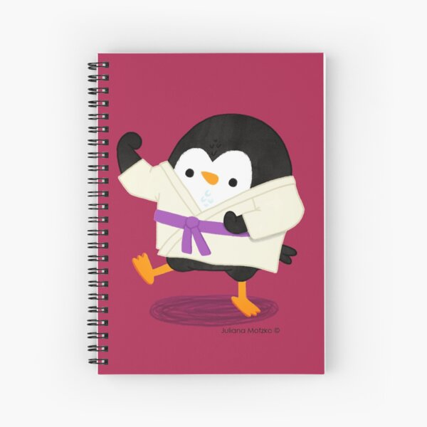 Karate Penguin 2 Spiral Notebook