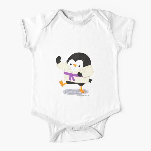 Karate Penguin 2 Short Sleeve Baby One-Piece