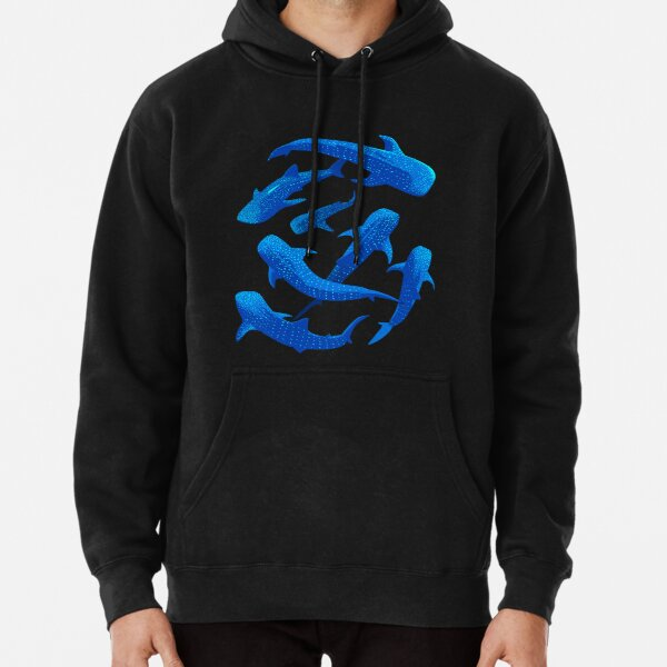 Shark Whale pattern  Pullover Hoodie