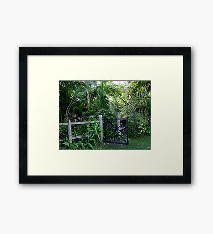 That's a Sharp Looking Gate Framed Print