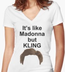 KLING Women's Fitted V-Neck T-Shirt