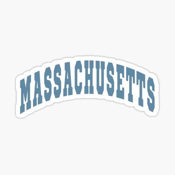 Massachusetts Varsity Lettering Design Sticker