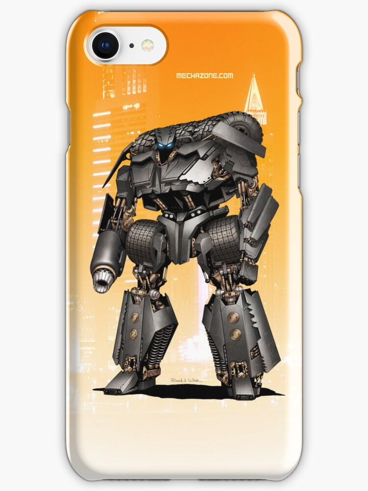 Batmobile Mecha iPhone case by Mecha-Zone