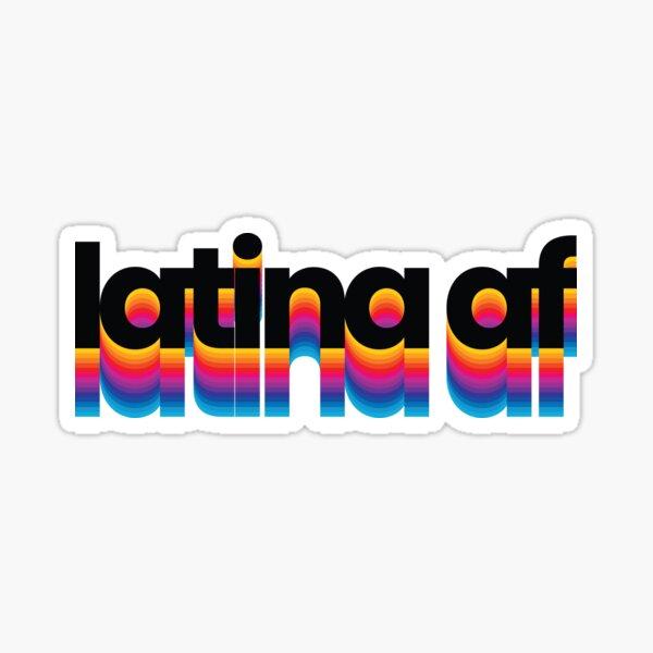 latina af colorful trendy rainbow modern Sticker