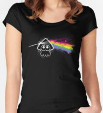 DARK SIDE OF THE SQUID Women's Fitted Scoop T-Shirt