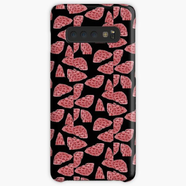 Red Raindrops abstract pieces design against black background Samsung Galaxy Snap Case