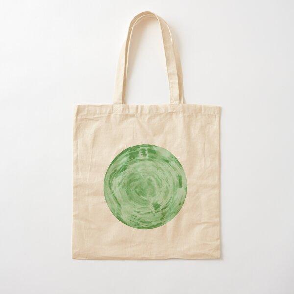 light green fern sphere Cotton Tote Bag