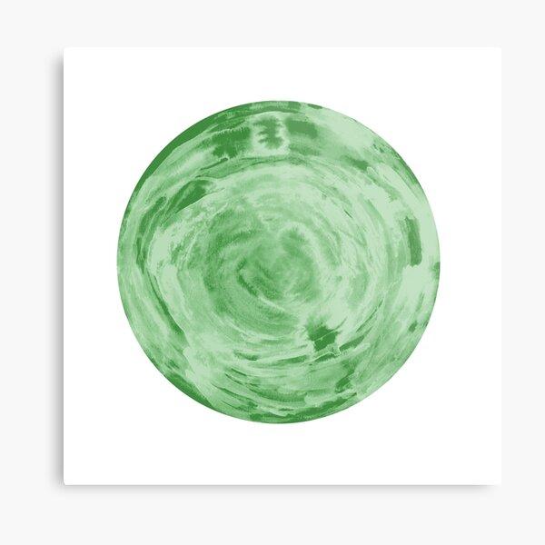 light green fern sphere Metal Print