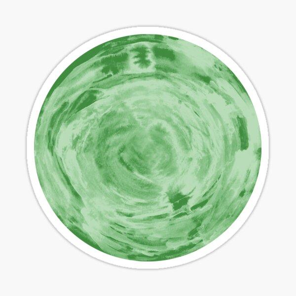 light green fern sphere Sticker