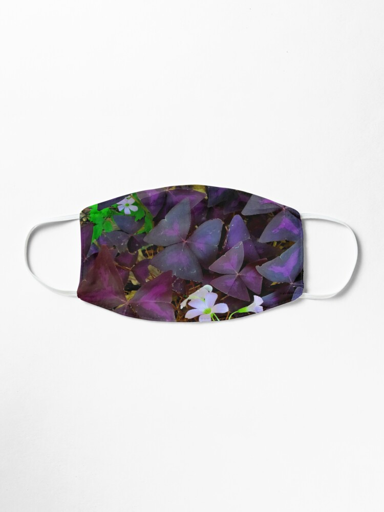 Alternate view of Purple Merlot clover Mask