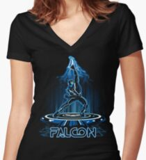 FALTRON Women's Fitted V-Neck T-Shirt