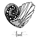 Truth Affirmation Heart  by Franchesca Cox
