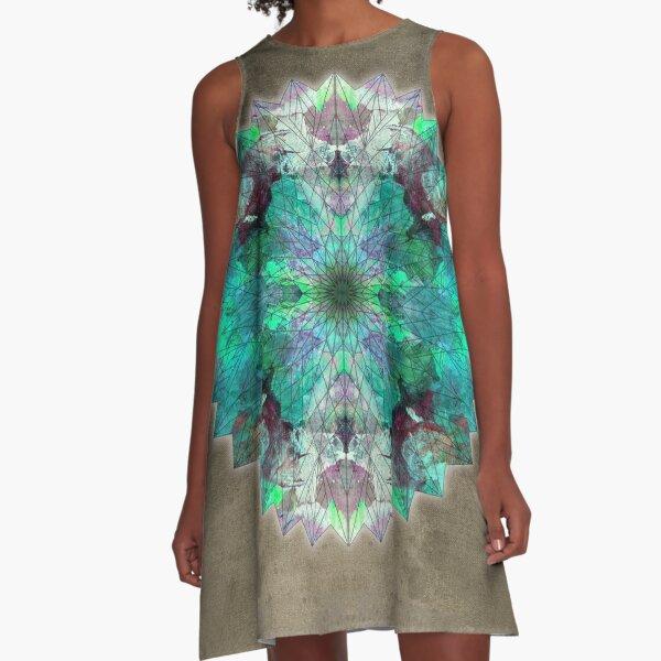 star mandala 16 A-Line Dress