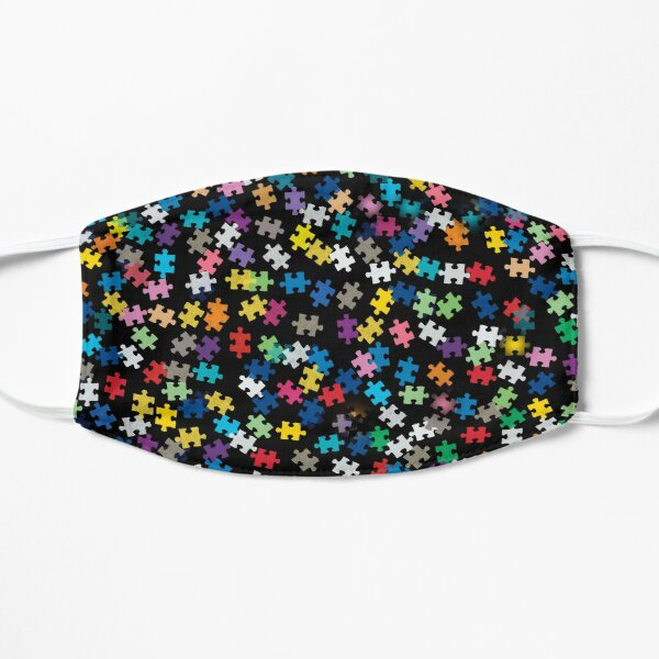 Autism Awareness Puzzle Pattern Mask