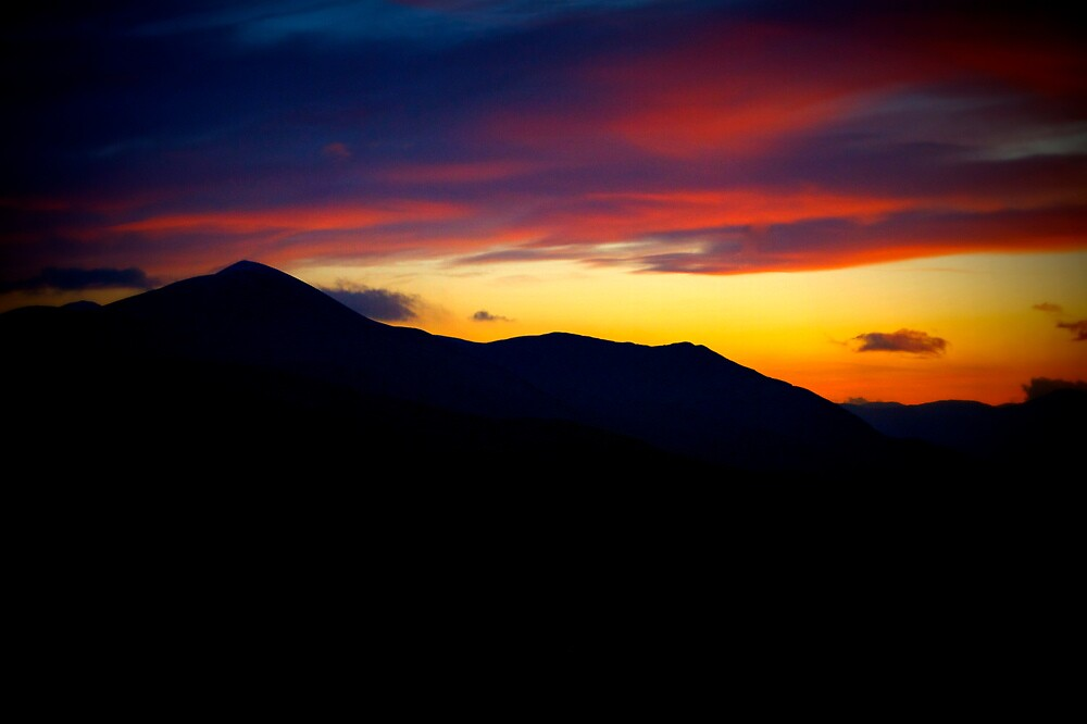 Sunset On Skiddaw- Lake District National Park © by Lou Wilson