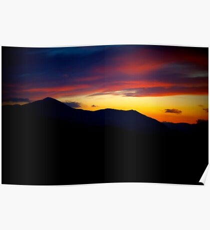 Sunset On Skiddaw- Lake District National Park © Poster